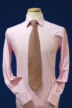 men's custom dress shirt on a stand