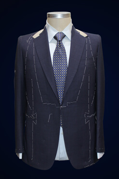 men's suit jacket with tailoring lines